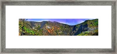 Irazu Volcano Crater Panorama Framed Print by Al Bourassa