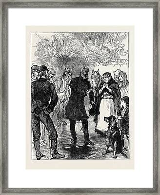 Ireland An Itinerant Orator Near Killarney 1880 Framed Print