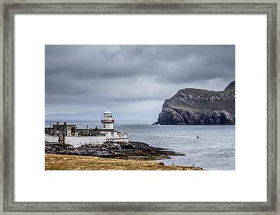 Ireland Lighthouse Framed Print by Creative Mind Photography
