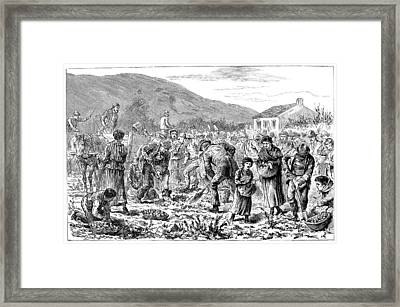Ireland Peasants, 1886 Framed Print by Granger