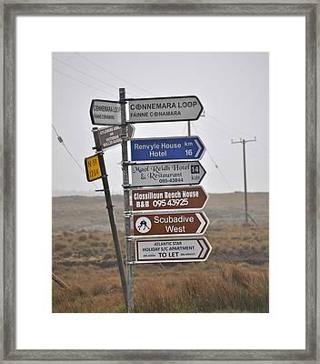 Ireland Road Sign 1 Framed Print