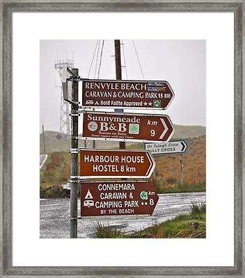 Ireland Signs 2 Framed Print