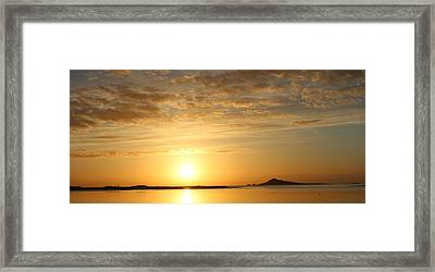 Irelands Eye At Dawn Framed Print
