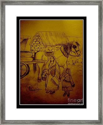 Irelands Farmland  Framed Print by Patricia Bunk