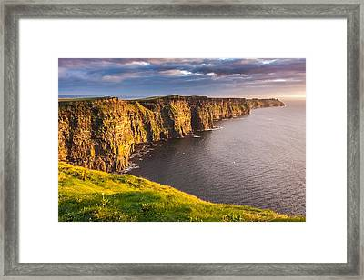 Ireland's Iconic Landmark The Cliffs Of Moher Framed Print