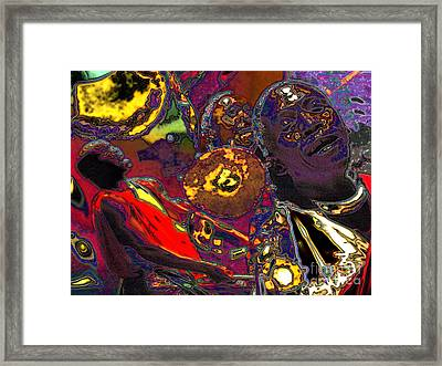 Framed Print featuring the digital art Irembo by Mojo Mendiola