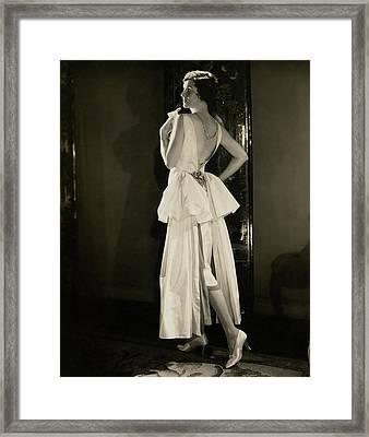 Irene Castle Wearing A Satin Dress Framed Print by Edward Steichen