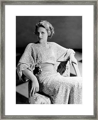 Irene Hervey, 1933 Framed Print by Everett