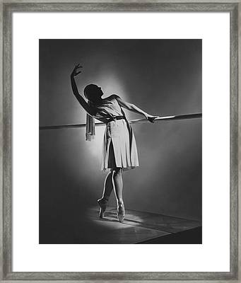 Irina Baronova At The Barre Framed Print by Horst P. Horst