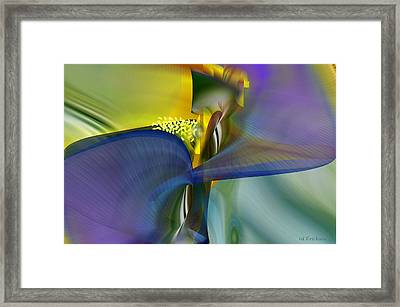 Iris - Abstract Art Framed Print