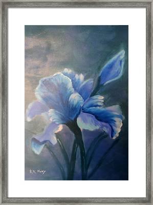 Iris Blue Framed Print