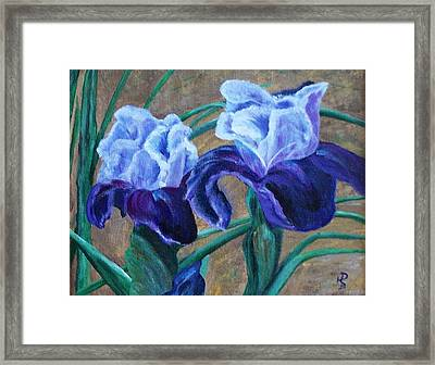 Framed Print featuring the painting Iris by Debbie Baker