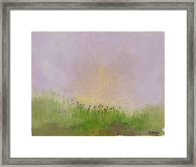 Iris Field Framed Print
