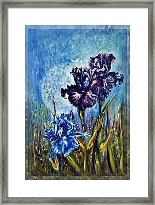 Iris Framed Print by Harsh Malik
