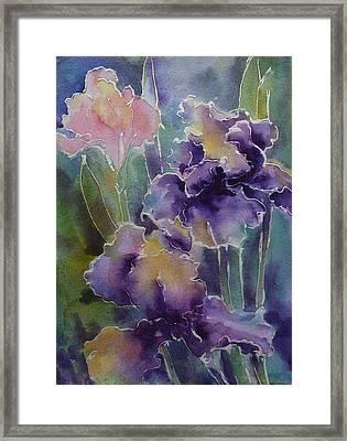 Iris Love Framed Print