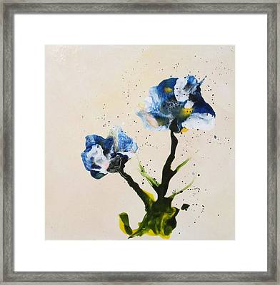 Iris Framed Print by Mary Kay Holladay