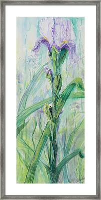 Framed Print featuring the painting Iris Number Two by Cathy Long