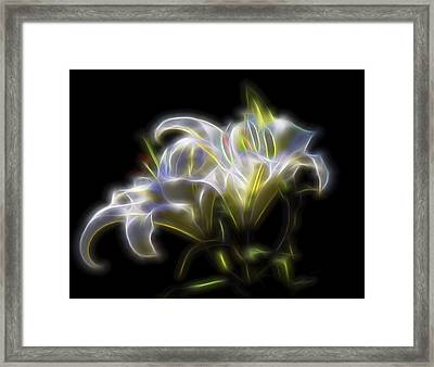 Framed Print featuring the digital art Iris Of The Eye by William Horden