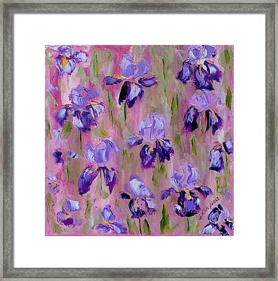 Iris Pattern Framed Print