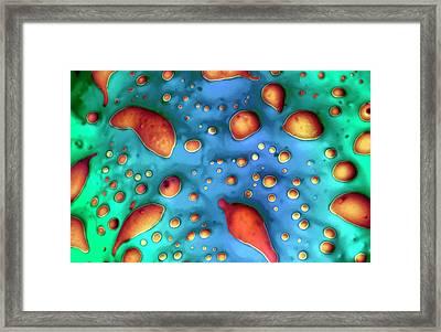 Iris Pollen Framed Print by Louise Hughes
