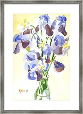 Irises Aglow Framed Print by Kip DeVore