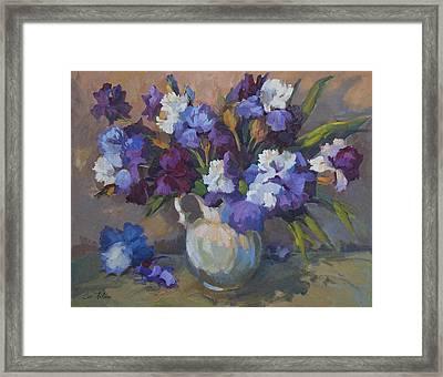 Irises Framed Print by Diane McClary