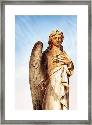 Irish Angel In Dublin Framed Print by Mark E Tisdale