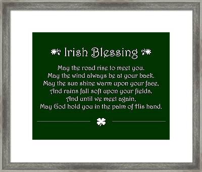 Irish Blessing Framed Print by Jaime Friedman