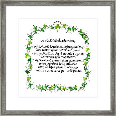 Irish Blessing Framed Print by Jan Boyd