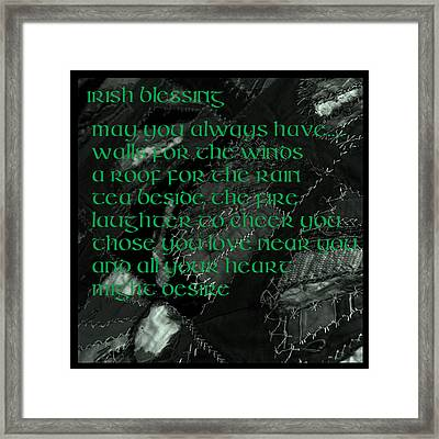 Irish Blessing Stitched In Time Framed Print