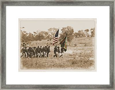 Framed Print featuring the photograph Irish Brigade by Judi Quelland