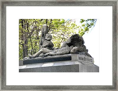 Irish Brigade Monument Framed Print by Wayne Sheeler