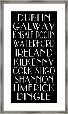 Irish Cities Subway Art Framed Print
