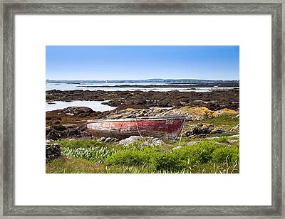 Framed Print featuring the photograph Irish Coast Impression by Juergen Klust