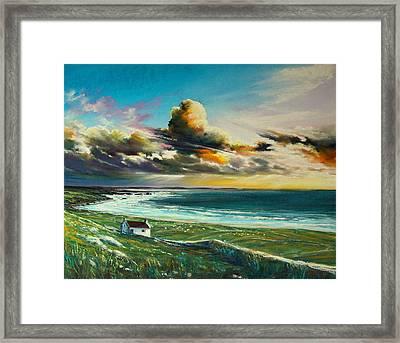 Irish Coastline Framed Print by Roman Burgan