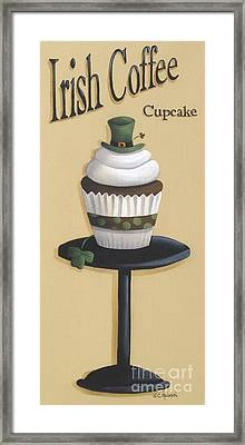 Irish Coffee Cupcake Framed Print by Catherine Holman