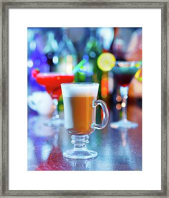 Irish Coffee On A Bar Framed Print by Wladimir Bulgar