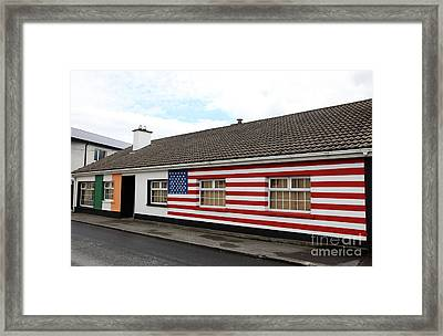 Irish Cottage Moneygall Framed Print by Ros Drinkwater