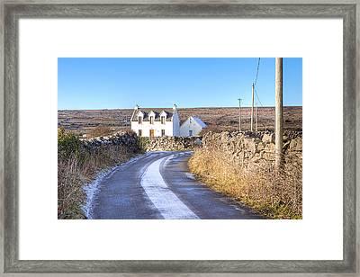 Irish Cottage On Isle Of Inis Mor Framed Print by Mark E Tisdale