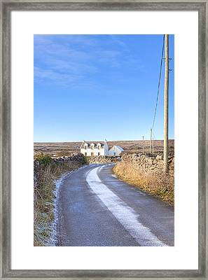 Irish Cottage On The Aran Islands Framed Print by Mark E Tisdale