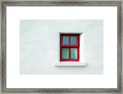 Irish Cottage Red Window Framed Print