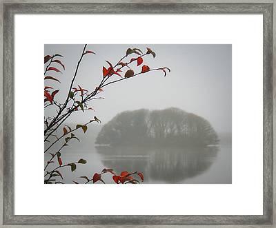 Irish Crannog In The Mist Framed Print