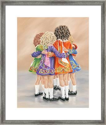 Irish Dancers Framed Print
