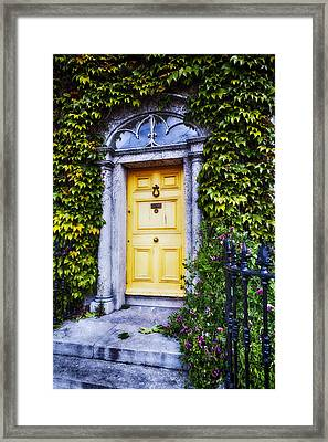 Irish Door With Ivy Framed Print by George Oze
