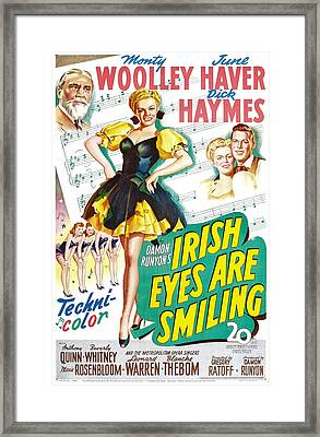 Irish Eyes Are Smiling, Us Poster Framed Print by Everett