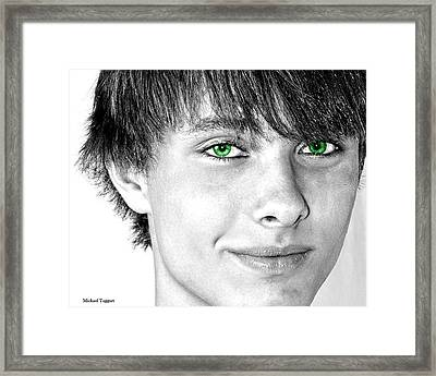 Irish Eyes Framed Print by Michael Taggart