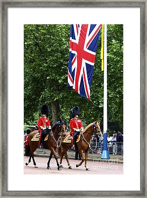 Irish Guards At Trooping The Colour Framed Print
