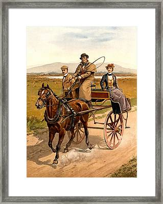 Irish Jaunting Car Framed Print by Detroit Publishing Co