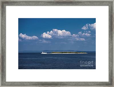 Irish Lighthouse  Framed Print by Juergen Klust