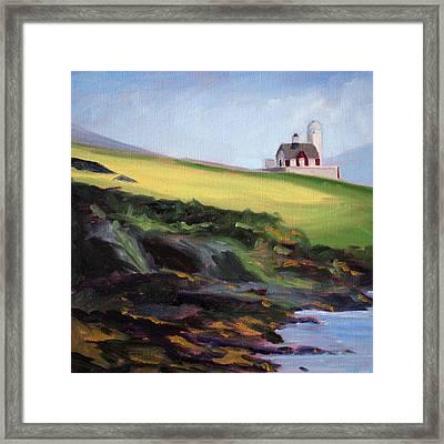 Irish Lighthouse Framed Print by Nancy Merkle